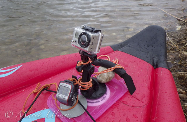 suction cup mount on inflatable SUP