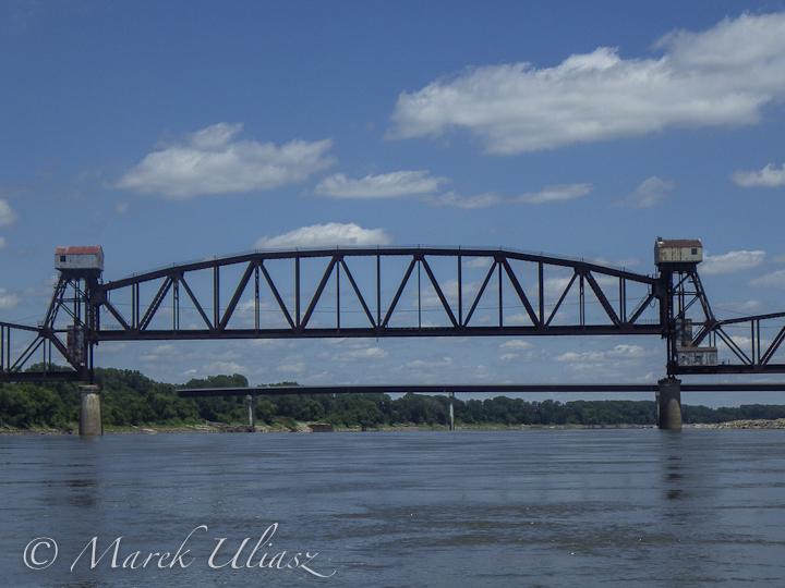 Old Katy railroad bridge at Boonsville
