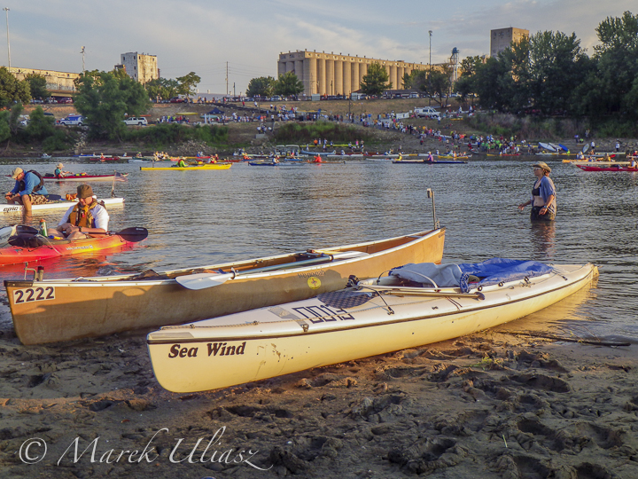 Sea Wind canoe on Kaw River