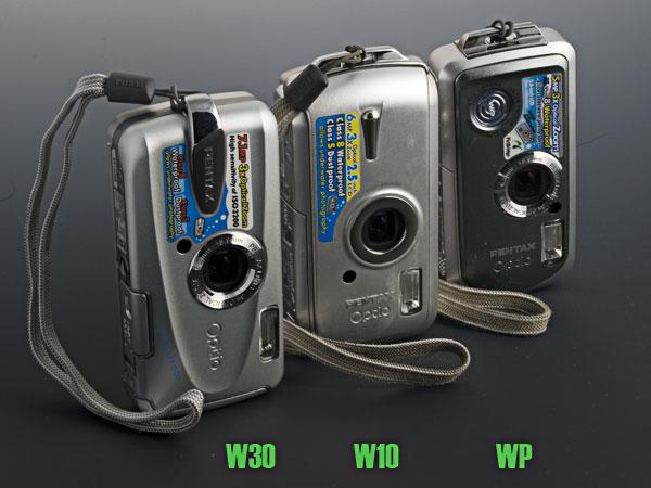 Pentax Optio W cameras