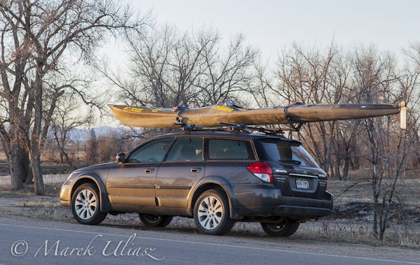Subaru Outback and JKK Supernova kayak
