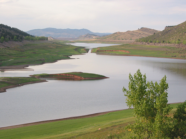 Horsetooth Reservoir drained