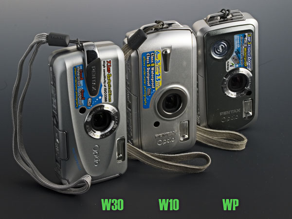 Pentax Optio waterproof cameras