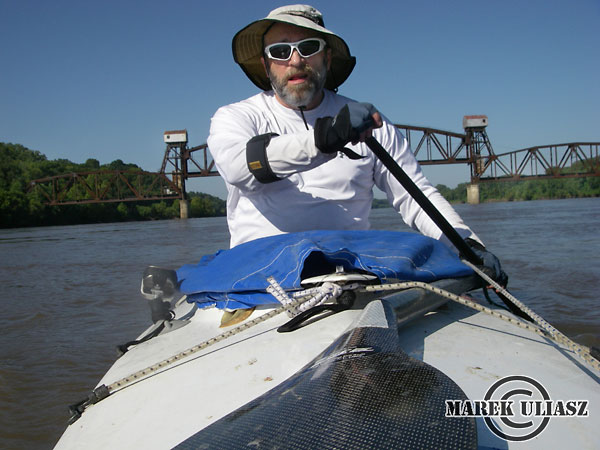 paddling under Boonville railroad bridge during 2010 MR340 race