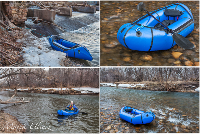 packraft on Poudre River