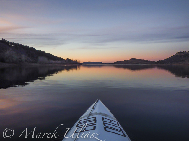 winter paddling on Horsetooth Reservoir