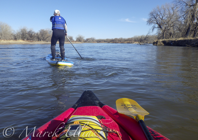 Paddling SUP on South Platte River from Kersey to Kuner