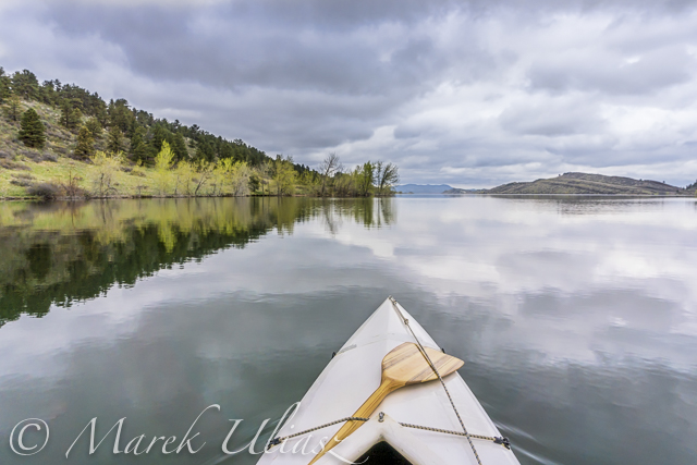paddling Horsetooth Reservoir