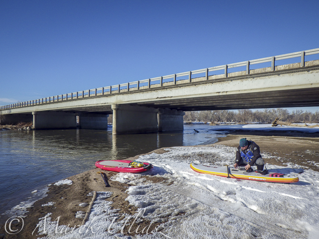 Start at gravel bar under the new highway 58 bridge