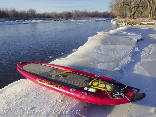 10 Winter Miles of Stand Up Paddling on South Platte River