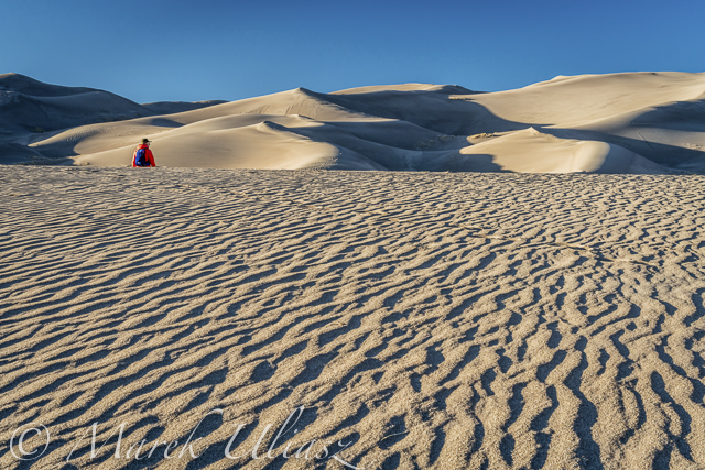 hiker in  in Great Sand Dunes National Park