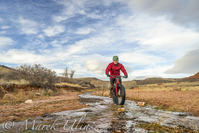 Water in Red Mountain Open Space – Fat Bike Exploration
