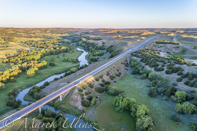 Dismal River in Nebraska Sand Hills from Above