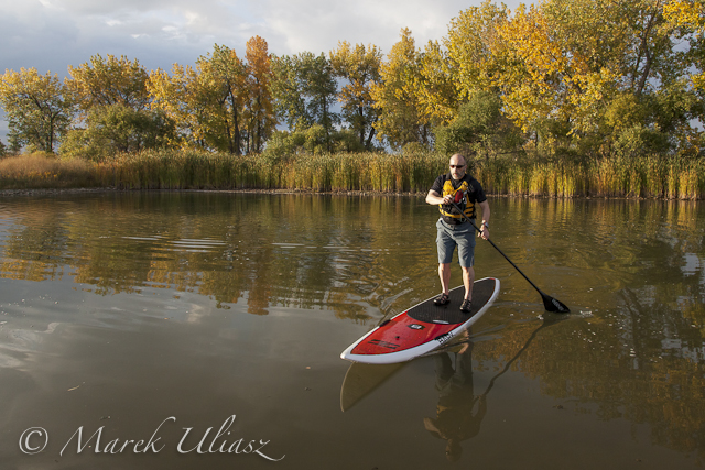 Bark Expedition Stand Up Paddleboard in Fall Scenery